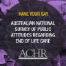 National Survey of Public Attitudes on End of Life Care